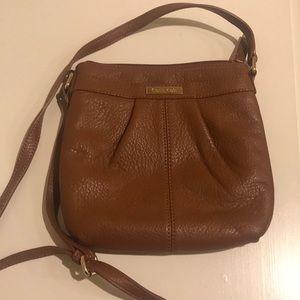 Calvin Klein Brown Leather Crossbody Bag